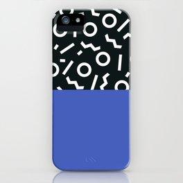 Memphis pattern 49 iPhone Case