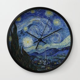 The Starry Night by Vincent van Gogh Wall Clock