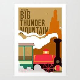 Disney Minimalism-Big Thunder Mountain Art Print