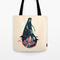 kpop Tote Bags featuring Night Time. by Karl James Mountford