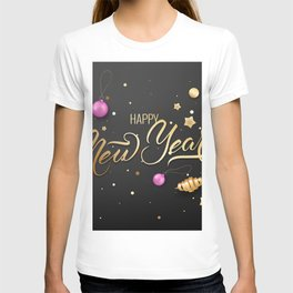 Pictures New year English Box Word - Lettering Tem T-shirt