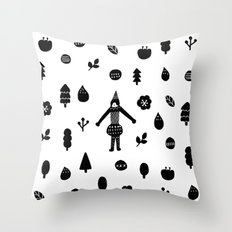 Little Forest  Throw Pillow