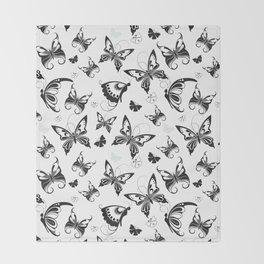 Butterflies in Flight 2 Throw Blanket