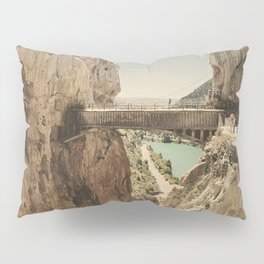 """""""The most dangerous trail in the world"""". El Caminito del Rey Pillow Sham"""