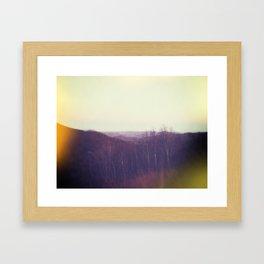 The Far Framed Art Print