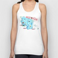 wisconsin Tank Tops featuring WISCONSIN by Christiane Engel