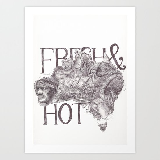 Fresh&Hot Art Print
