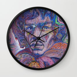 Psychedelic Haze Portrait Wall Clock