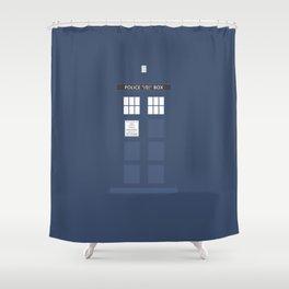 Tardis ( Doctor Who ) Shower Curtain