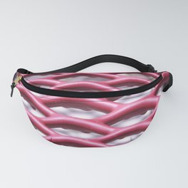 Abstract Red Fanny Pack