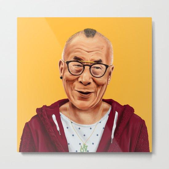 Hipstory -  Dalai Lama Metal Print