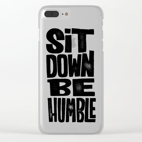 sit down Clear iPhone Case