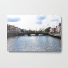 Downtown - Dublin - Fractalius Metal Print