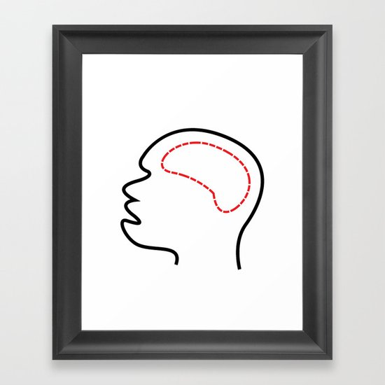 Empty Head Framed Art Print