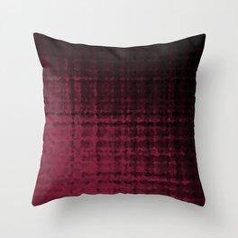 Black maroon mosaic Throw Pillow