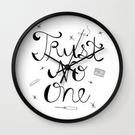 Trust No One Wall Clock