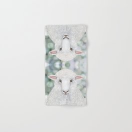Corriedale sheep farm animal portrait Hand & Bath Towel