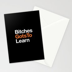 Bitches gots to learn · OITNB Stationery Cards