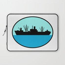World War Two Attack Cargo Ship Retro Laptop Sleeve