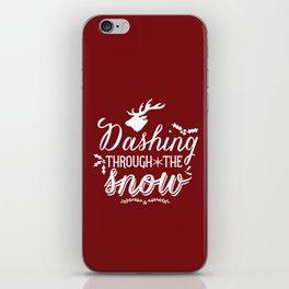 Dashing- Red iPhone Skin