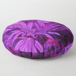 Hemp Cannabis 420 Stoner Hippy Trippy Pot Leaf Print Floor Pillow
