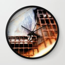Metal Fire Escape Stairs Abstraction Wall Clock