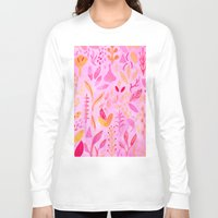 flora Long Sleeve T-shirts featuring Flora by messy bed studio