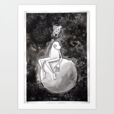 Omino Luna be alone Art Print
