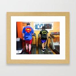 La fabbrica dei supereroi #1 Framed Art Print