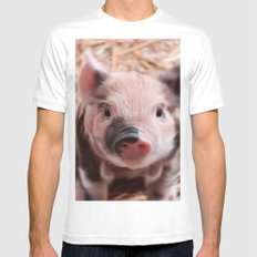 Sweet piglet Mens Fitted Tee White MEDIUM
