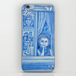 Blue window #9 iPhone Skin