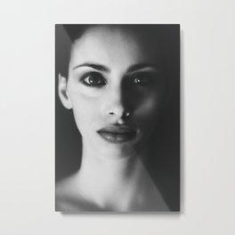 BW Woman Portrait Metal Print