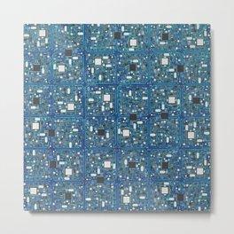 Blue tech Metal Print
