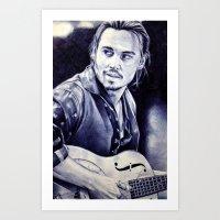 johnny depp Art Prints featuring Johnny Depp by Matteo Felloni Artista