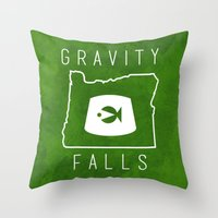 fez Throw Pillows featuring Gravity Falls - Grunkle Stan's Fez (Original) by pondlifeforme