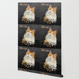 Low Poly Cat Drawing Geometric Kitty Wallpaper