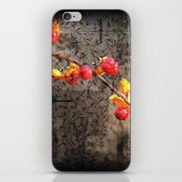Fields Of Red Berries iPhone Skin