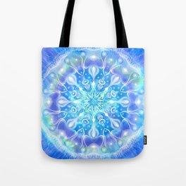 Light Frequency Blue Mandala - Inhale Light. Exhale what no longer serves you. Tote Bag