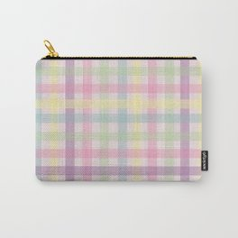Plaid Pastels Carry-All Pouch
