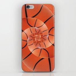 Droste Basketball Spiral  iPhone Skin