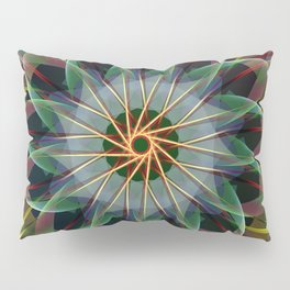 Perfectly swirling ribbons, fractal abstract Pillow Sham