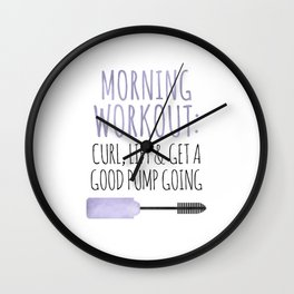 Morning Workout Wall Clock