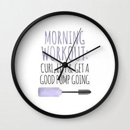 Morning Workout Wall Clock