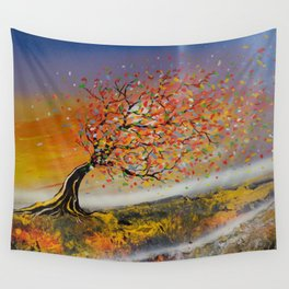 Gone With The Colourful Wind Wall Tapestry