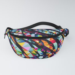 Wavy Lines Low Poly Geometric Triangles Fanny Pack