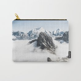 Mountain Tops Above Clouds And Snow Carry-All Pouch