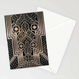 Art Nouveau Metallic design Stationery Cards