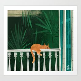 Nawlins Cat Art Print