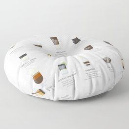 Coffee Chart - Around The World Floor Pillow