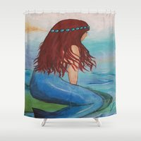 marina Shower Curtains featuring Marina by Ashalika